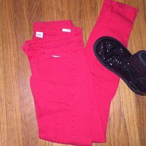 ⭐️  Host Pick Red super skinny jeans